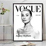 Salon Vogue Wall Art Affiches et Affiches Mode Toile Peintures Photos pour Salon Home Decor60x80cm