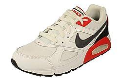 Nike Air Max Ivo Herren Running Trainers CD1540 Sneakers Schuhe (UK 8.5 US 9.5 EU 43, White Dark Grey Habanero red 100)