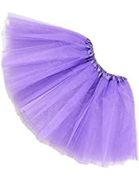 SODIAL(R)Women/Adult Organza Dance wear Tutu Ballet Pettiskirt Princess Party Skirt Purple