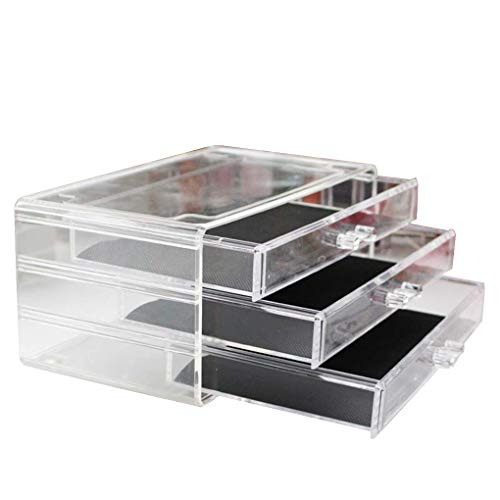 Bomcomi 3 Ebenen Acryl Fach-Art Make-up-Aufbewahrungsbehälter Schreibtisch Sundries Behälter, Kosmetik, Desktop-Organizer -