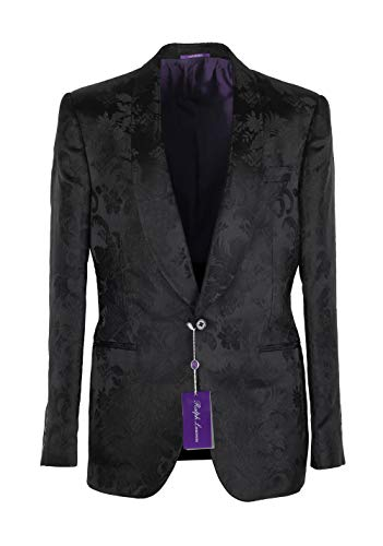 75057b17944c1 Ralph Lauren Purple Label Cl Black Floral Shawl Dinner Jacket Size 50   40R  U.S. In