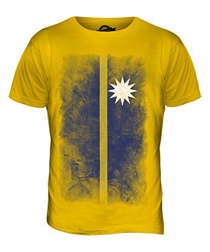 CandyMix Nauru Verblichen Flagge Herren T Shirt Dunkelgelb