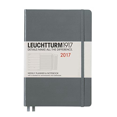 Leuchtturm1917 348238 Wochenkalender und Notizbuch, Medium, anthrazit