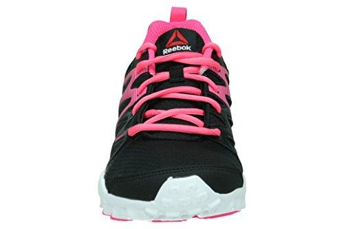 Reebok Realflex Train 4.0, Chaussures de Sport Fille Negro / Rosa / Blanco (Black / Solar Pink / White)