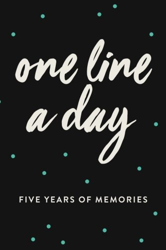one-line-a-day-journal-five-years-of-memories-6x9-diary-dated-and-lined-book-black-with-blue-dots