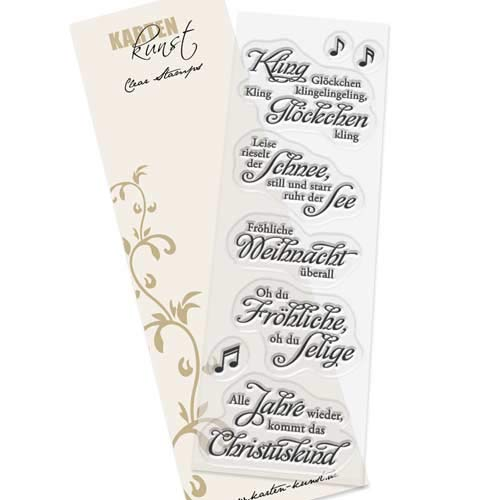 Clear Stamp-Set Stempel-Gummi Weihnachten - Karten-Kunst Weise Worte