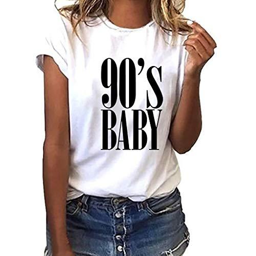 Kostüm Parade Holiday - Oyedens 90er Jahre Baby Wild T Shirt bedrucktes Kurzarm T-Shirt, Frauen Mädchen Plus Size Print Tees Shirt Kurzarm T Shirt Bluse Tops