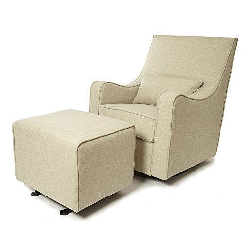 The NEW Hush Hush 360 Swivel Glider/Rocking Nursing Chair (in Cream) – The Modern Glider that combines simple lines with exceptional comfort