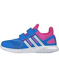 adidas Hyperfast 20 CF K, Zapatillas de Deporte para Niños, Azul (Azuimp / Plamat / Rosimp), 355 EU