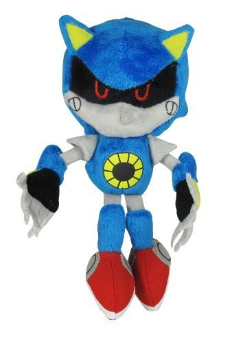 Sonic The Hedgehog Classic Metal Sonic Plush Toy by Jazwares, Inc. (Toys Sonic Von Metal Sonic)