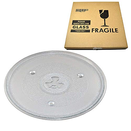 HQRP 10-1/Glas-Plattenteller für 5,1cm Tablett für Hamilton Beach 252100500497hb-p90d23hb-p90d23a hbp90d23Mikrowelle Kochen Teller 270mm + HQRP Untersetzer
