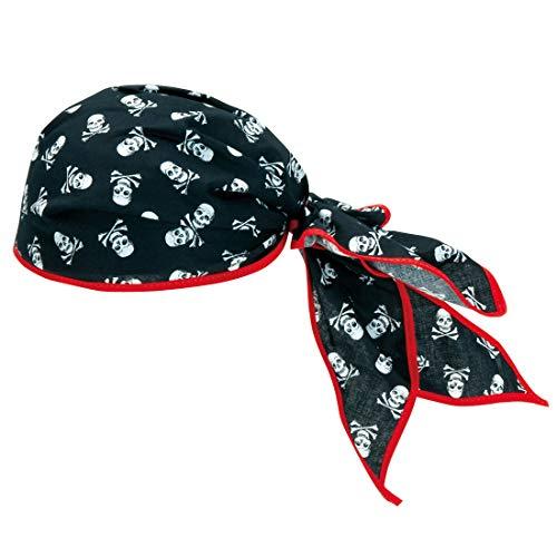 Amakando Totenkopf-Bandana für Kleine Seeräuber / Schwarz-Weiß / Kostüm-Zubehör Pirat für Jungen & Mädchen / Genau richtig zu Kinder-Karneval & - Jungen Mädchen Piraten Kostüm