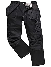 PORTWEST BP51 Boulder Contrast Stitch Trouser Black BP51BK-TM