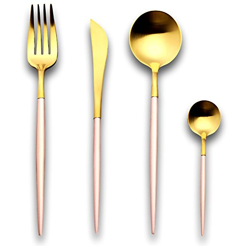 Cutipol GOA celadon matte gold tea//coffee spoon 1 piece Professional anthorization Brand celadon gold