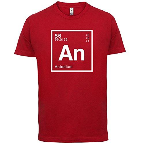 Anton Periodensystem - Herren T-Shirt - 13 Farben Rot