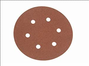 Faithfull AD15040H Hook and Loop Sanding Disc DID2 Holed 150mm x 40g (Pack of 25)