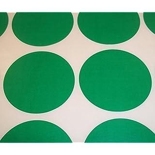 Audioprint Ltd. 500er Pack rund Bestandskontrolle Farben Code Punkte blanko Aufkleber Selbstklebeetiketten - Grün, 25mm