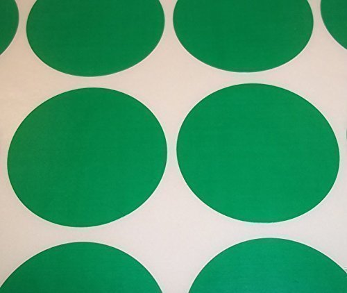 Audioprint Ltd. Farbetiketten Etiketten Aufkleber Rund Lagerkontrolle Farbcode Schildchen Punkte Sticker klebende Label 60 Stück Packung - 15mm, Grün