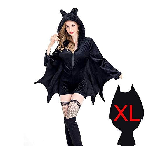 Biback Halloween Fledermaus-Kostüm Set für Familie Eltern Kinder Cosplay Party Kleid, Women XL
