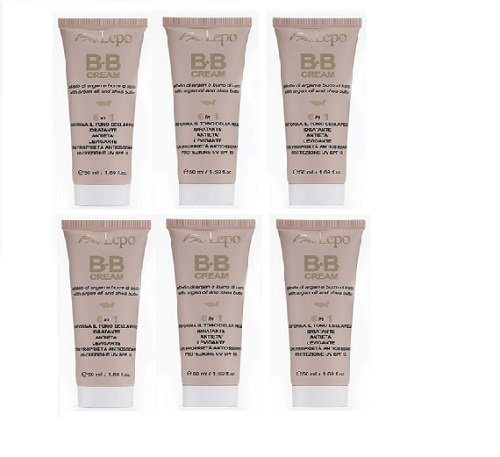 lepo-hydration-bb-cream-medium-dark-6-packs-of-50-ml-no-2-protects-against-the-uv-and-smoothens-the-