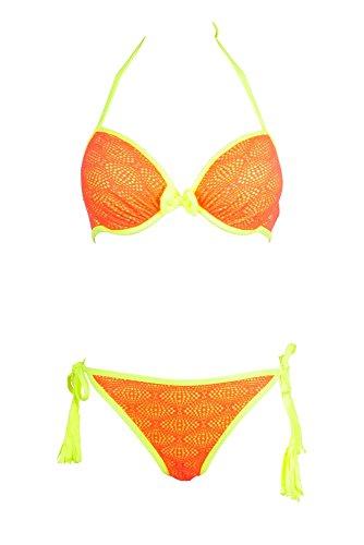 Dag Adom Damen Bikini-Set Korallenrot