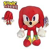 Sonic - Peluche Knuckles The Echidna 11'40'/29cm Color Rojo Calidad Super Soft