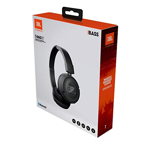 JBL T460BT Extra Bass Wireless On-Ear Headphones with Mic (White) Image 8