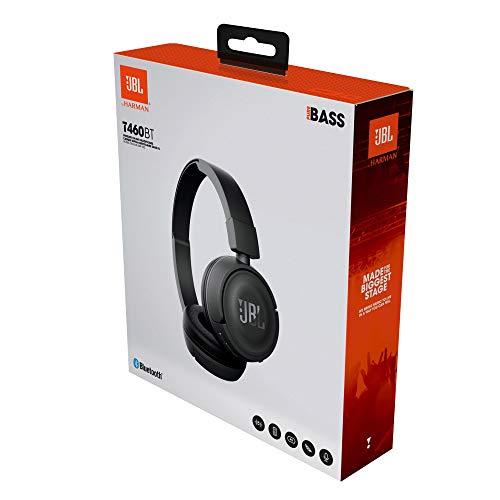 JBL T460BT Extra Bass Wireless On-Ear Headphones with Mic (Black) Image 8