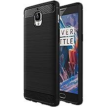 Foso Back Cover Cases OnePlus 3 / One Plus 3T, Carbon Fiber Black
