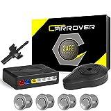 CAR ROVER® Car Capteur de Stationnement Auto Système Stationnement BiBi Alerte Sonore Buzzer Avec 4 Capteurs Argent
