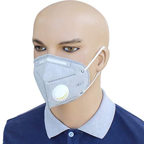 Lot de 10Masque respiratoire FFP2Masques ponçage Peinture aérosol poussière Bodyshop Sécurité, Gris
