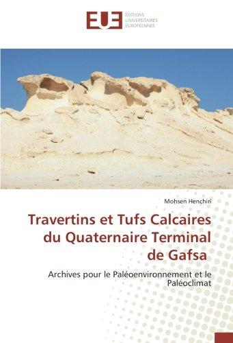 Travertins et Tufs Calcaires du Quaternaire Terminal de Gafsa: Archives pour le Paloenvironnement et le Paloclimat