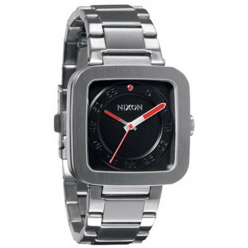 Nixon A189000-00 - Reloj analógico de cuarzo para hombre con correa de acero inoxidable, color plateado