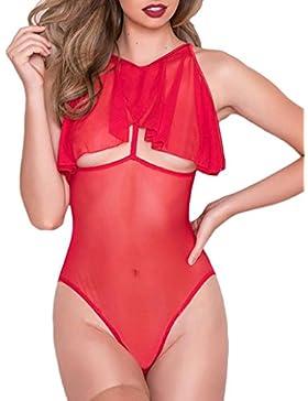 [Patrocinado]DOGZI Lencería Mujeres Babydoll Ahueca hacia Fuera de la Ropa Interior Bodysuit Lenceria Bodysuit Mujer Vestir...