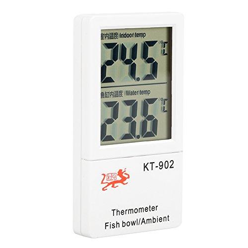 LCD Digital Aquarium Thermometer Hygrometer Terrarium Dual Temperaturanzeige Meter Temperatur Alarm