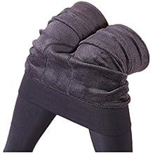 BYSTE Leggings Donne Inverno Denso Fleece foderato elastico Ghette Pantaloni