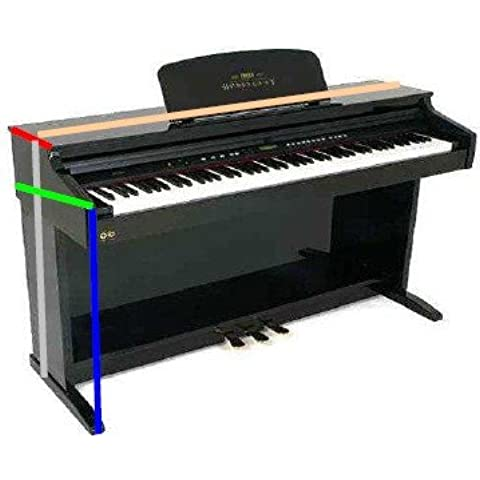 Ortola - Funda Piano Digital Kawai C-18 Con Velcro 4Mm, Negro
