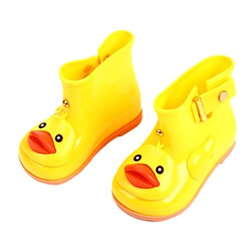 TYUE Bebé niño niños Lluvia Botas Dibujos Animados Pato Impermeable Goma  Lluvia Zapatos niños Chicos niñas 58084839ae0b3