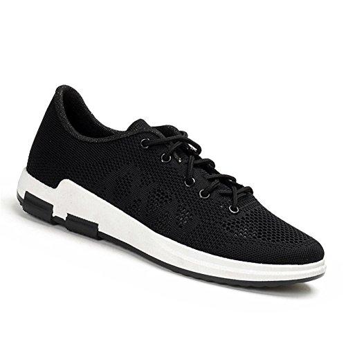 Hibote Baskets Pour Homme, Sneaker Chaussures de Sports Course Fitness Gym Noir