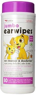 Petkin Jumbo Ear Wipes (80 wipes in a single pack)