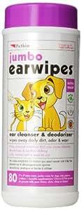 Wipes Ear Jumbo pkt 80 (Petkin)