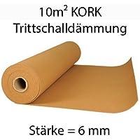 Rollo de aislamiento acústico (corcho, 10 m² x 6 mm)