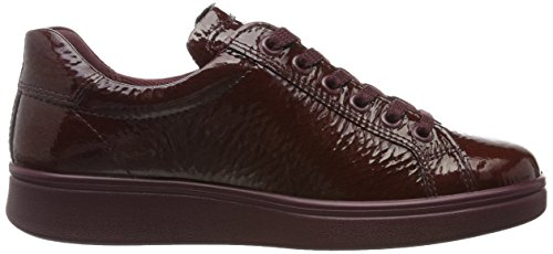 Ecco Soft 4, Sneakers Basses Femme Rouge (Bordeaux)