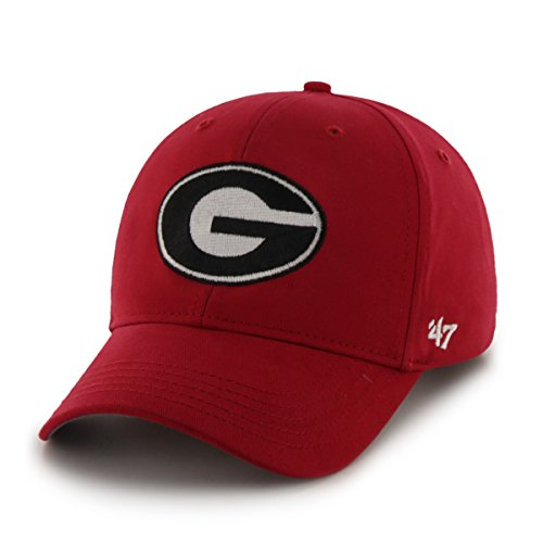 ncaa-georgia-bulldogs-basic-mvp-adjustable-hat-youth-red