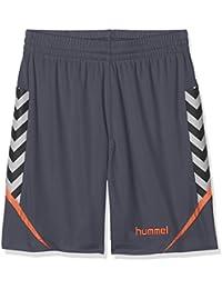 Hummel Niños AUTH. Charge Poly Pantalones Cortos, Otoño-Invierno, Infantil, Color Ombre Blue/Nasturtium, tamaño 164-176