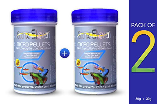 Gene Eleven Micro Pellets 30Grams (Pack of 2), The Best Fish Food - Guaranteed!!