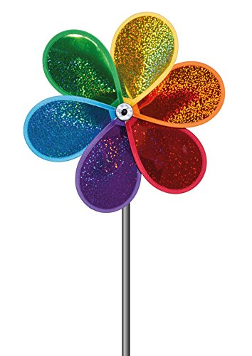 Unbekannt Paul Günther 1305 - Glitter Bloom Windspiel, Outdoor und Sport, bunt (Stoff Windrad)