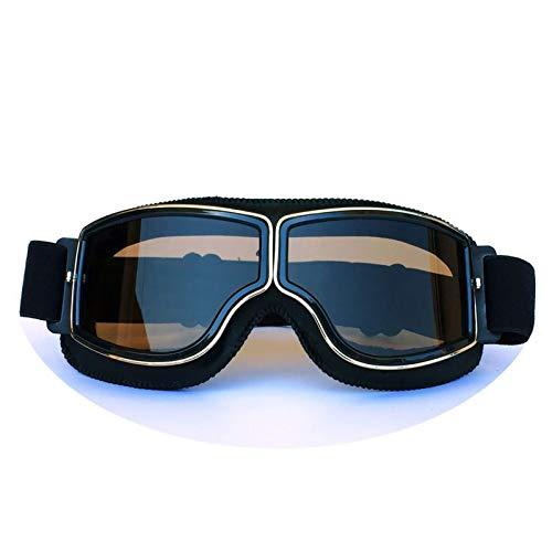 Daesar Sicherheitsbrille Damen Schwarz Braun Sportbrille Radfahren Brille Motorrad Herren