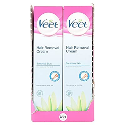 6 x Veet Sensitive Skin Hair Removal Cream Aloe Vera & Vitamin E 200ml