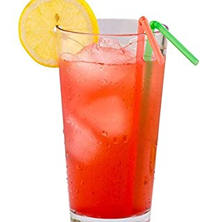 Aikesi Eco Friendly Drinking Straws Flexible Disposable Straw Random Color Straws Size 21 * 0.5cm (Random Color)